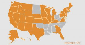 United States map from #beenapp